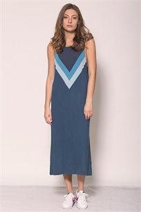 שמלה באורך מידי זוהרה Victory בצבע כחול