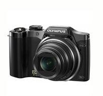 """מצלמת Olympus עם זום ענק X24, איכות 16Mpx, מסך """"3, צילום וידאו full HD ושלל מתנות"""