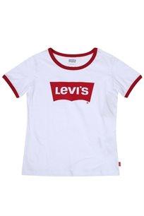 Levis נוער // Retro Ringer Tee White