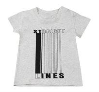 חולצת טי Straight Line לתינוקות Minene בצבע אפור מלאנז' בהיר
