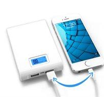 סוללת גיבוי 12000 עם מסך LCD ו-2 יציאות USB  לטעינת כל סוגי מוצרי התקשורת וההתקנים הדיגיטליים