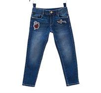 מכנסי ג'ינס OVS סקיני לילדים עם טלאים - כחול