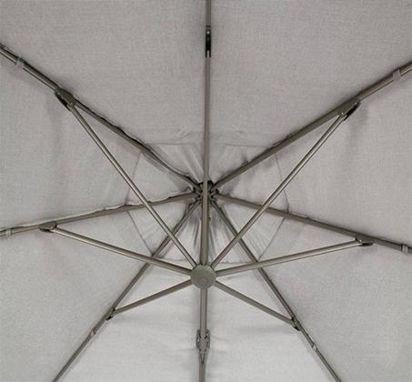 שמשייה בגודל 4X3 מטר מסתובבת עם רגל צד מאלומיניום - תמונה 5