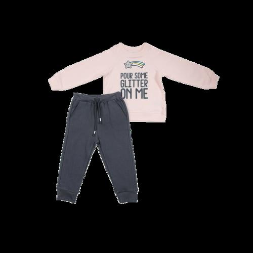 Minene חליפה לילדות (6-2 שנים) - ורוד קשת בענן