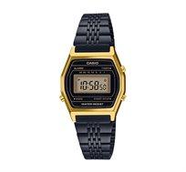 שעון יד דיגיטלי רטרו - שחור/זהב