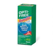"""מארז שלישיית תמיסות Opti Free Replenish כולל מחסניות לעדשות Alcon מכיל 300 מ""""ל"""