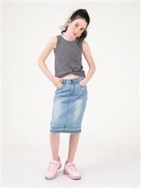 חצאית גינס מידי