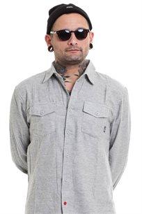 חולצת פלאנל SUPPLY - אפור בהיר