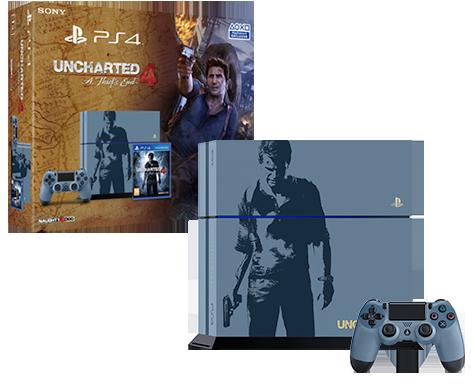Ps4 Uncharted 4 Bundle גרסת אספנים מעוצבת.