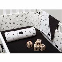 BABYMITMIT סדין למיטת תינוק -שחור