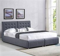 מיטה זוגית בריפוד בד עם הפרדה יהודית וארגזי מצעים HOME DECOR דגם אופירה