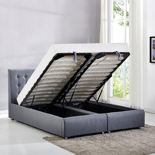 מיטה זוגית בריפוד בד עם הפרדה יהודית וארגזי מצעים HOME DECOR דגם אופירה - תמונה 4