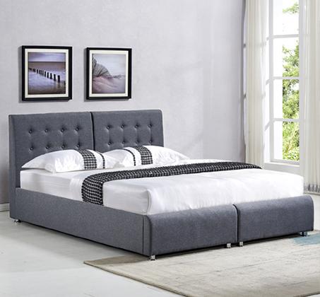 מיטה זוגית יהודית בריפוד בד עם תא אחסון דגם OFIRA
