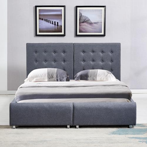 מיטה זוגית בריפוד בד עם הפרדה יהודית וארגזי מצעים HOME DECOR דגם אופירה - תמונה 2