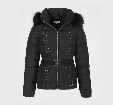 מעיל פוך קצר לנשים MORGAN - שחור