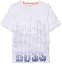 BOSS חולצת טישרט (16-4 שנים)לבן סמל גדול