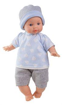 בובה - אהרון כובע כחול אפור - Paola Reina