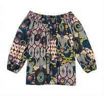חולצה ארוכה בסגנון אפריקאי צבעוני לנשים Desigual דגם Melina