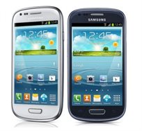 סמארטפון Samsung Galaxy S3 Mini דגם i8190 בצבעים כחול או לבן לבחירה