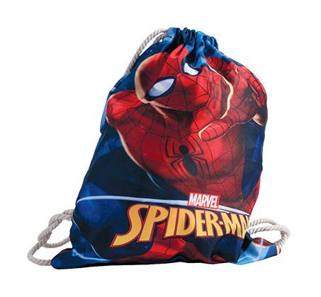 תיק שרוך ספיידרמן לילדים - כחול/אדום + כובע מתנה