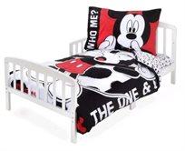 סט מצעים 3 חלקים למיטת תינוק/מעבר (דגם חדש) - מיקי מאוס האחד והיחיד