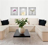 מדבקת קיר - רומנטיקה מסדרת Touch Of Art, בעיצוב רומנטי היוצר תחושת רוגע ושלווה