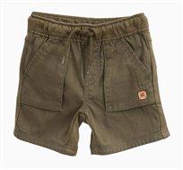 מכנסיים קצרים OVS לתינוקות וילדים - ירוק חאקי עם שרוך