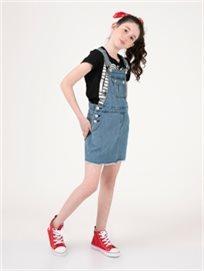 אוברול חצאית גינס