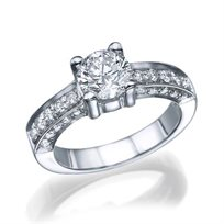 """טבעת יהלומים מזהב לבן """"מרסי"""" 1.51 קראט"""