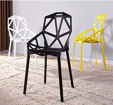 כיסא פינת אוכל למרפסת ולגינה בעיצוב גאומטרו במבחר צבעים  - תמונה 7