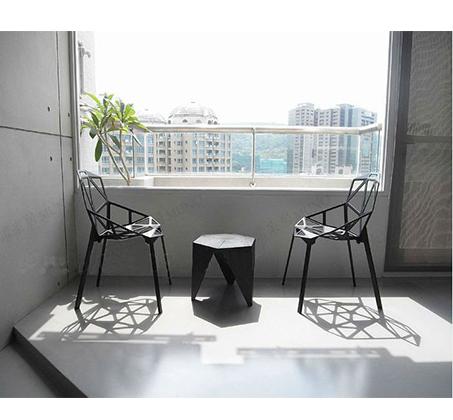כיסא פינת אוכל למרפסת ולגינה בעיצוב גאומטרו במבחר צבעים  - תמונה 6