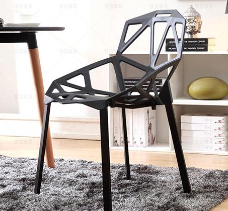 כיסא פינת אוכל למרפסת ולגינה בעיצוב גאומטרו במבחר צבעים  - תמונה 5