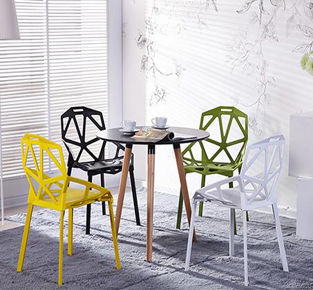 כיסא פינת אוכל למרפסת ולגינה בעיצוב גאומטרו במבחר צבעים  - תמונה 2