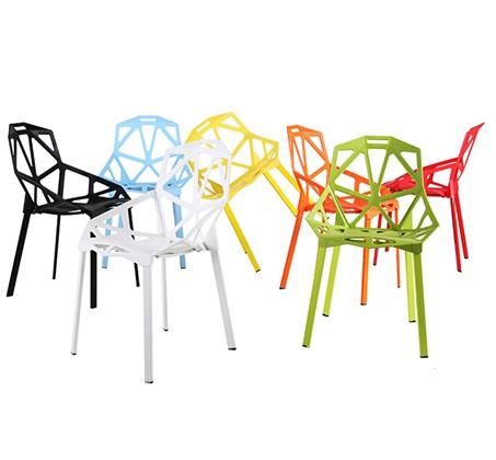 כיסא פינת אוכל למרפסת ולגינה בעיצוב גאומטרו במבחר צבעים  - תמונה 3