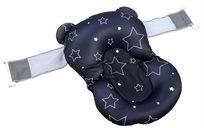 צף-קל - כרית אמבטיה לתינוק רצועות אבטחה - שחור כוכבים