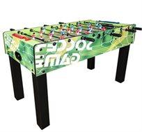 שולחן כדורגל דגם GREEN SOCCER עשוי MDF עם ציפוי דקורטיבי כולל רגלית פילוס ושני כדורי משחק