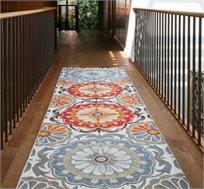 שטיח ראנר עבודת יד פרחים אדומים