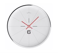 שעון קיר לבן M קווים דקים OLIVER HEMMING