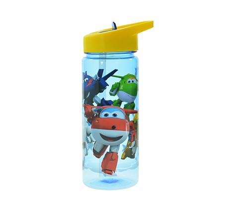 מארז 2 בקבוקי שתיה+מדבקת שם לילדים במגוון מותגים עם קש Tritan - תמונה 5