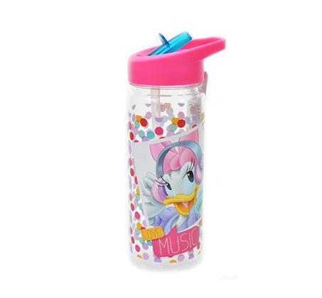 מארז 2 בקבוקי שתיה+מדבקת שם לילדים במגוון מותגים עם קש Tritan - תמונה 3