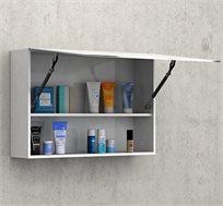 ארון אחסון מעל הכיור בחדר האמבטיה