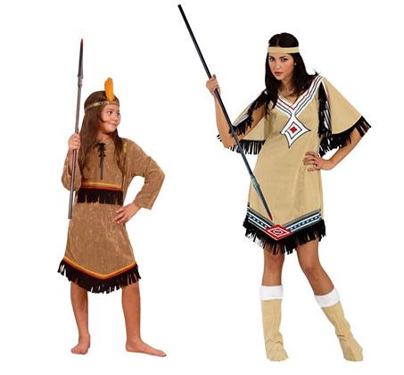 תחפושת אינדיאנים להורה וילד