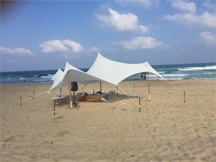 בד אוהל לייקרה בינוני 5X3.4 - משלוח חינם - תמונה 7