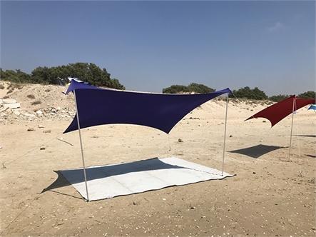 בד אוהל לייקרה בינוני 5X3.4 - משלוח חינם - תמונה 2