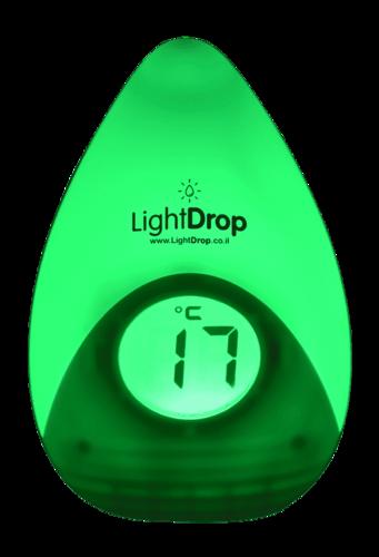 מד טמפרטורה חכם משולב מנורת לילה לחדר ילדים LIGHT DROP - תמונה 6