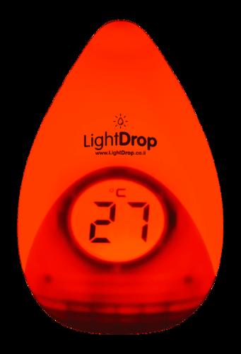 מד טמפרטורה חכם משולב מנורת לילה לחדר ילדים LIGHT DROP - תמונה 4