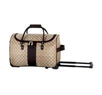 תיק נסיעות BAGAGIO בעיצוב אופנתי בצבע חום-מוזהב