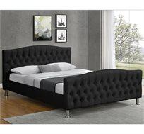 מיטה רחבה לנוער מרופדת דמוי עור שחור HOME DECOR דגם MERI