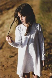 שמלה מסתובבת - לבן קווקווים
