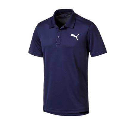 חולצת פולו פיקה קצרה לגברים PUMA ACTIVE Pique Polo - כחול כהה
